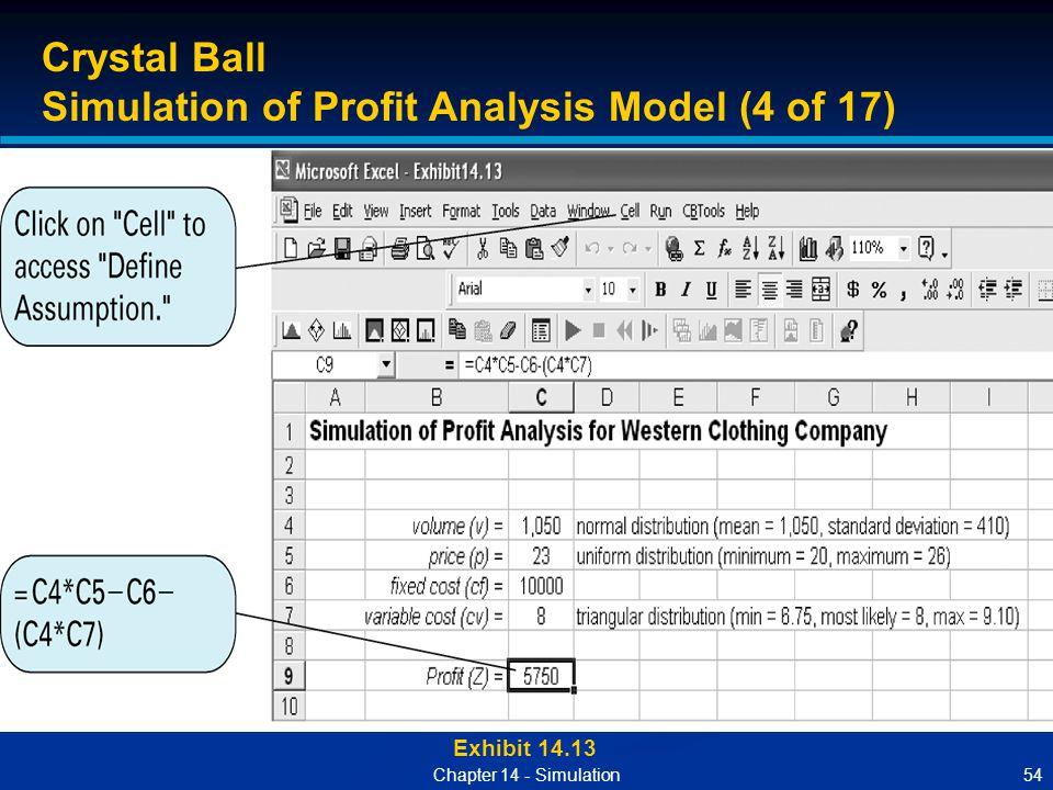 Simulation of Profit Analysis Model (4 of 17)