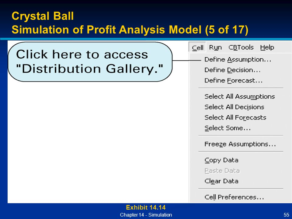 Simulation of Profit Analysis Model (5 of 17)