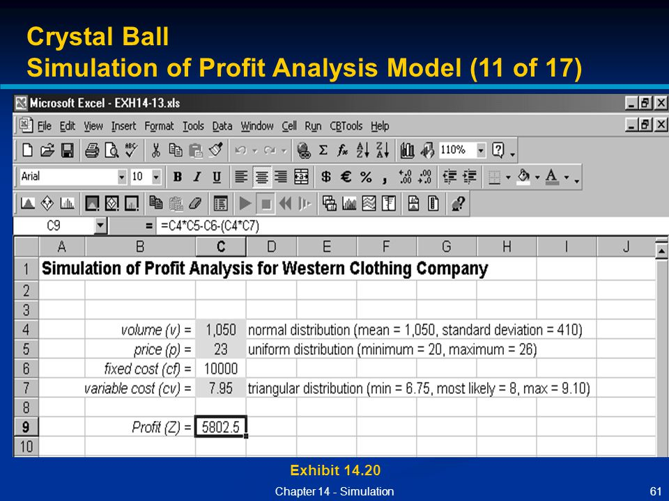 Simulation of Profit Analysis Model (11 of 17)
