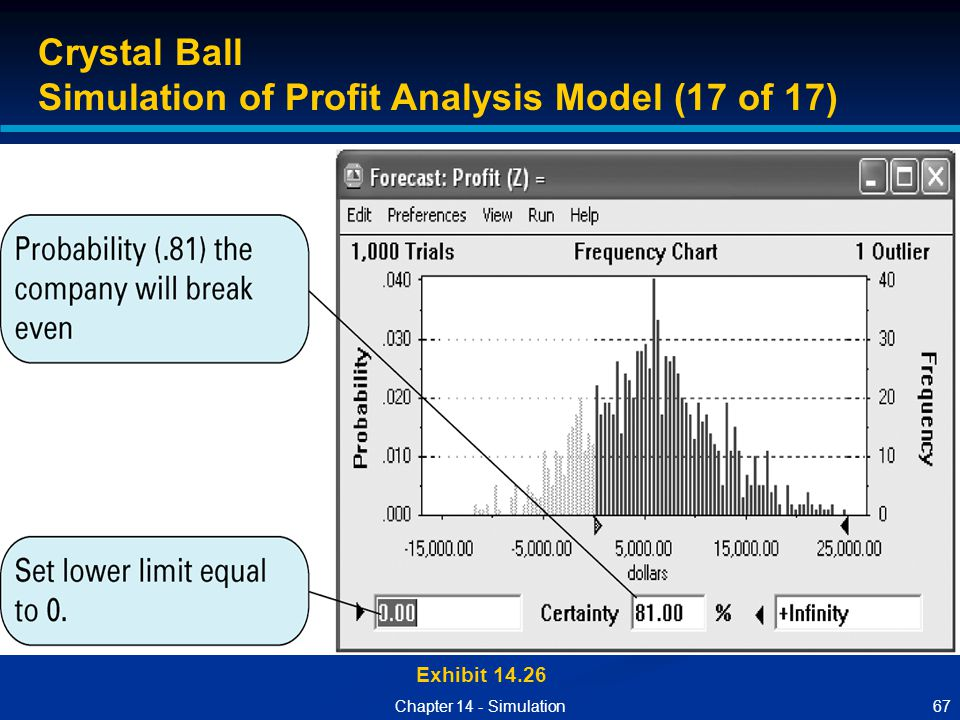 Simulation of Profit Analysis Model (17 of 17)