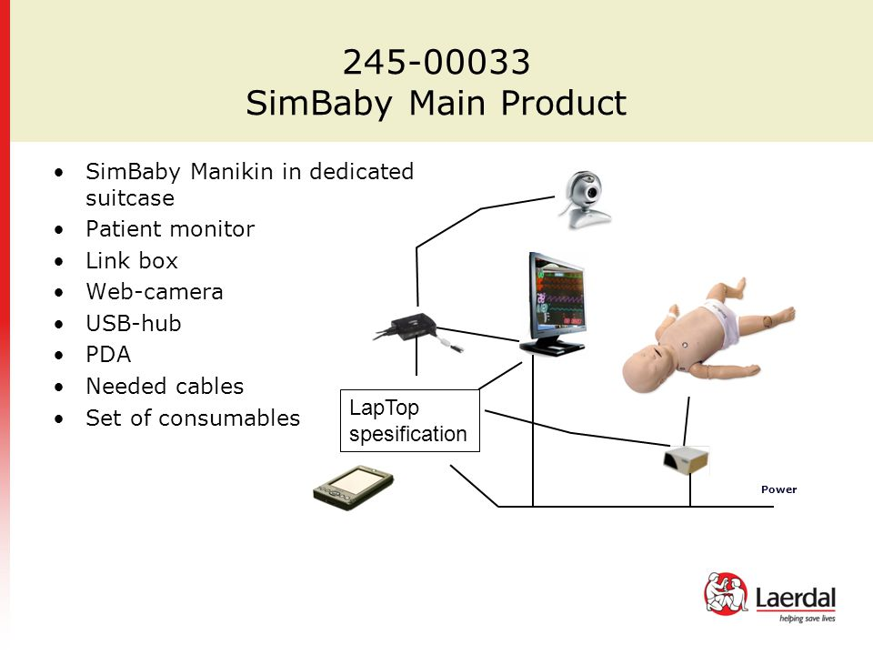245-00033 SimBaby Main Product SimBaby Manikin in dedicated suitcase