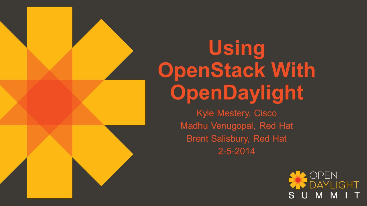 Using OpenStack With OpenDaylight