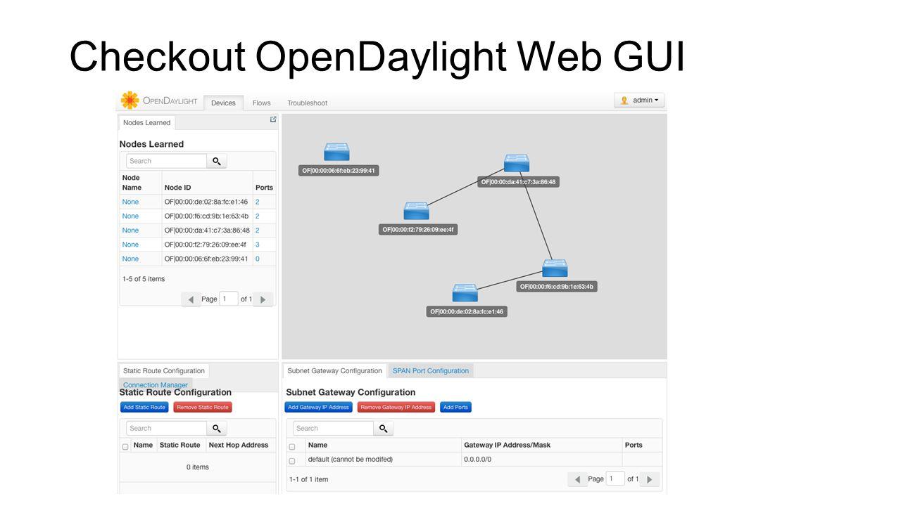 Checkout OpenDaylight Web GUI