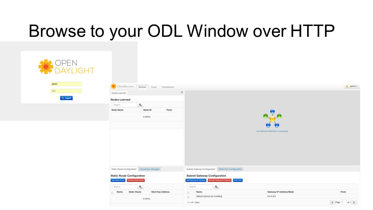 Browse to your ODL Window over HTTP