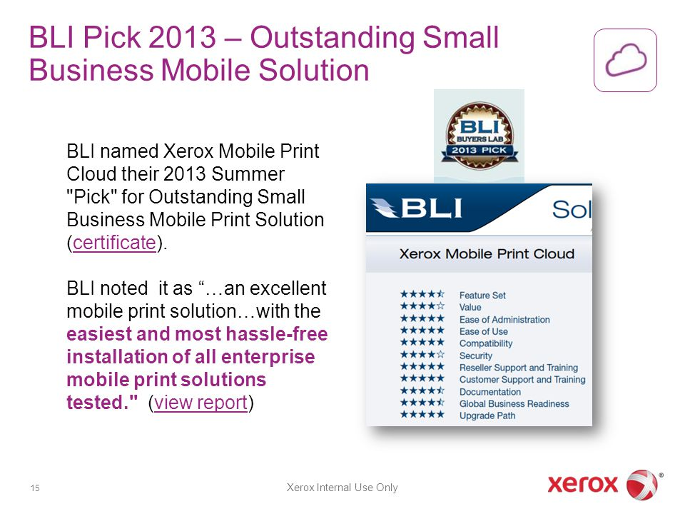 BLI Pick 2013 – Outstanding Small Business Mobile Solution