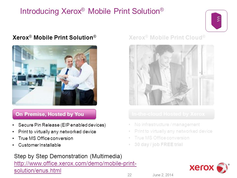 Introducing Xerox® Mobile Print Solution®