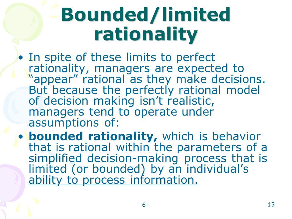 Bounded/limited rationality