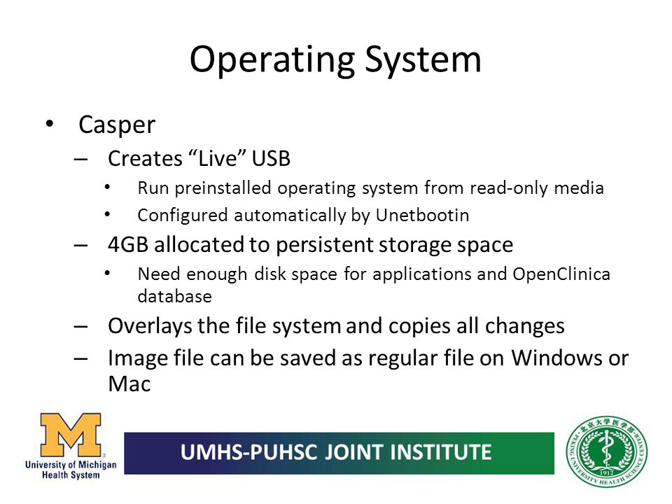 Operating System Casper Creates Live USB