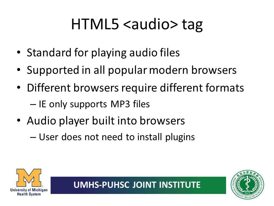 HTML5 <audio> tag