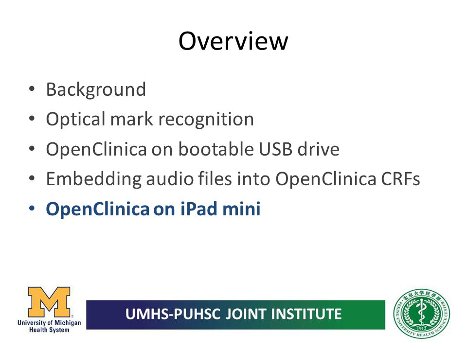 Overview Background Optical mark recognition