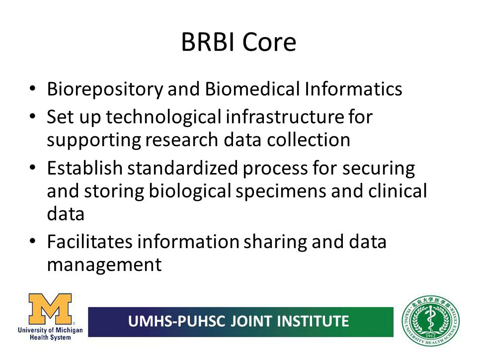 BRBI Core Biorepository and Biomedical Informatics