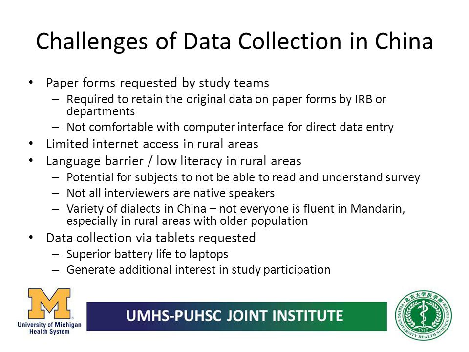 Challenges of Data Collection in China