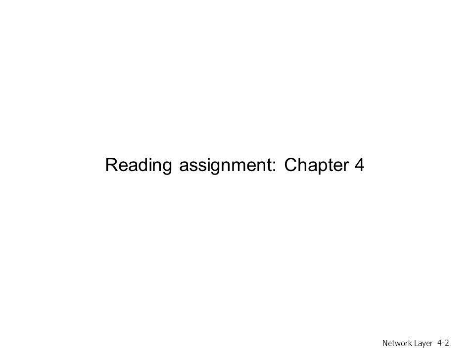 Reading assignment: Chapter 4