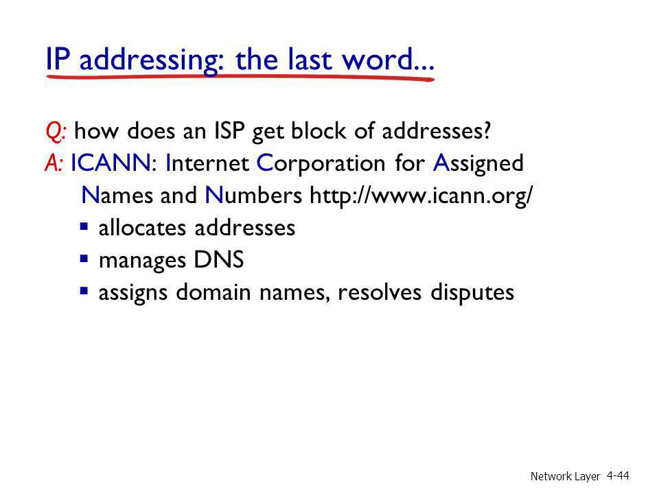 IP addressing: the last word...