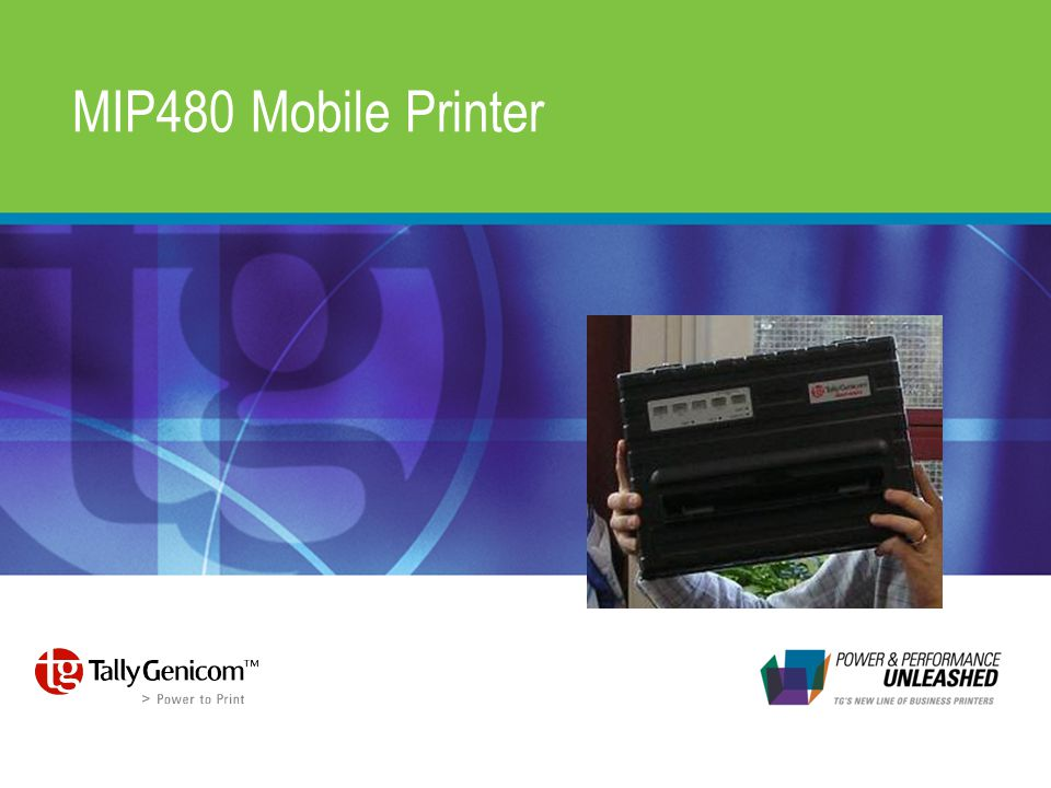 MIP480 Mobile Printer