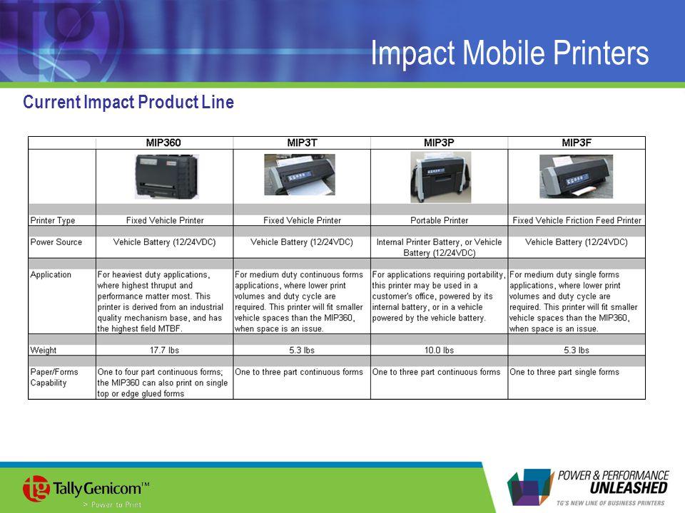Impact Mobile Printers