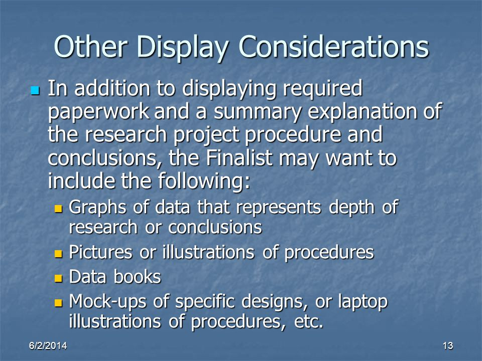 Other Display Considerations