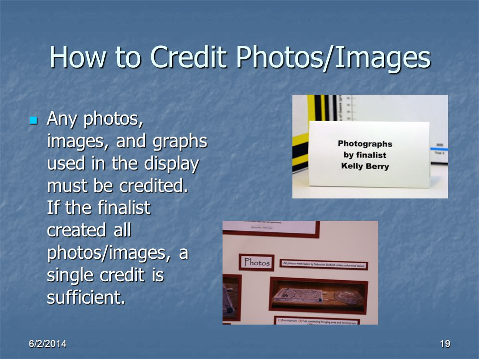 How to Credit Photos/Images
