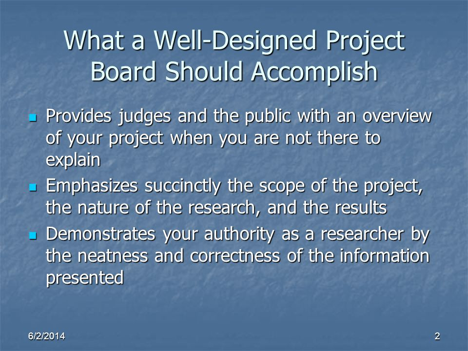 What a Well-Designed Project Board Should Accomplish