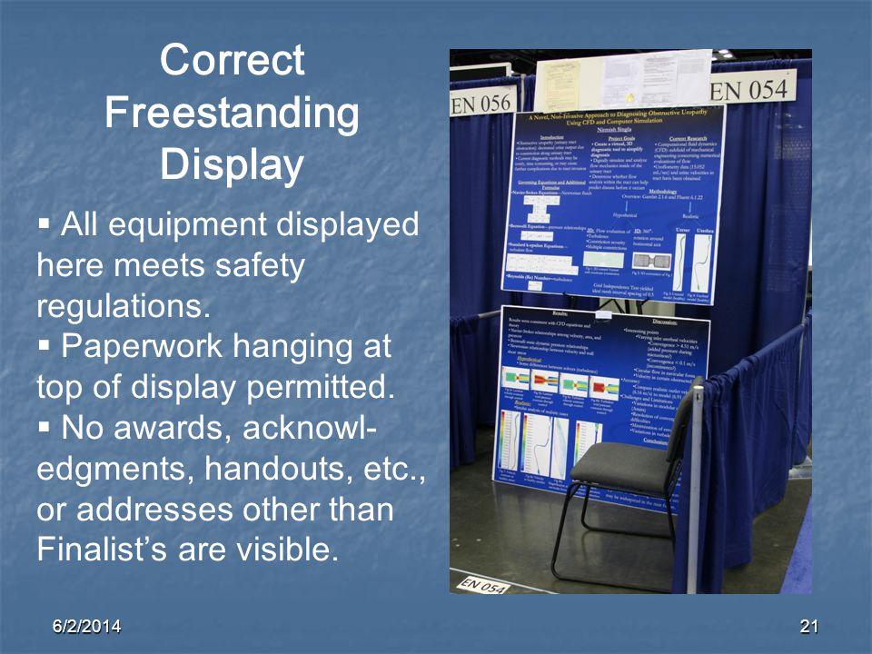 Correct Freestanding Display
