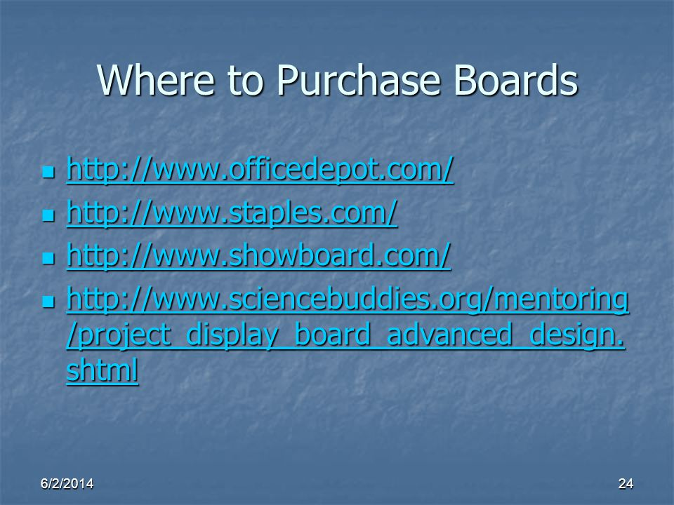 Where to Purchase Boards