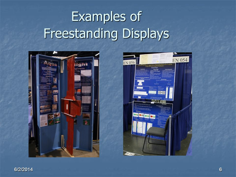 Examples of Freestanding Displays