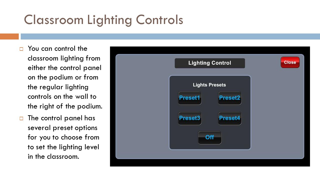 Classroom Lighting Controls