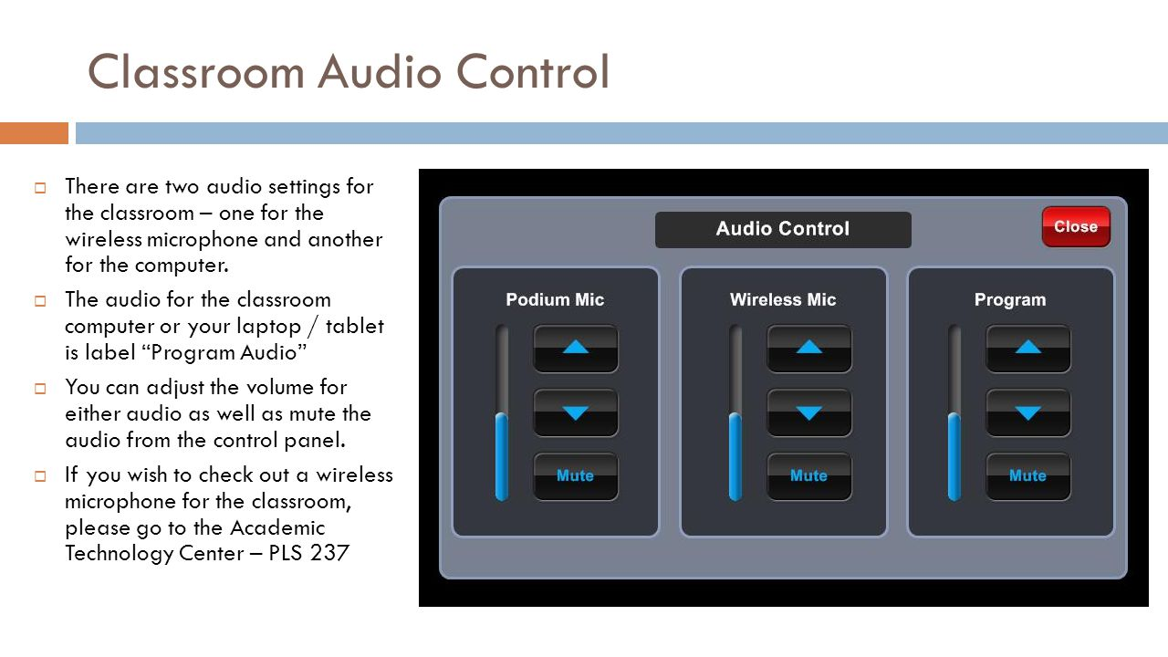 Classroom Audio Control