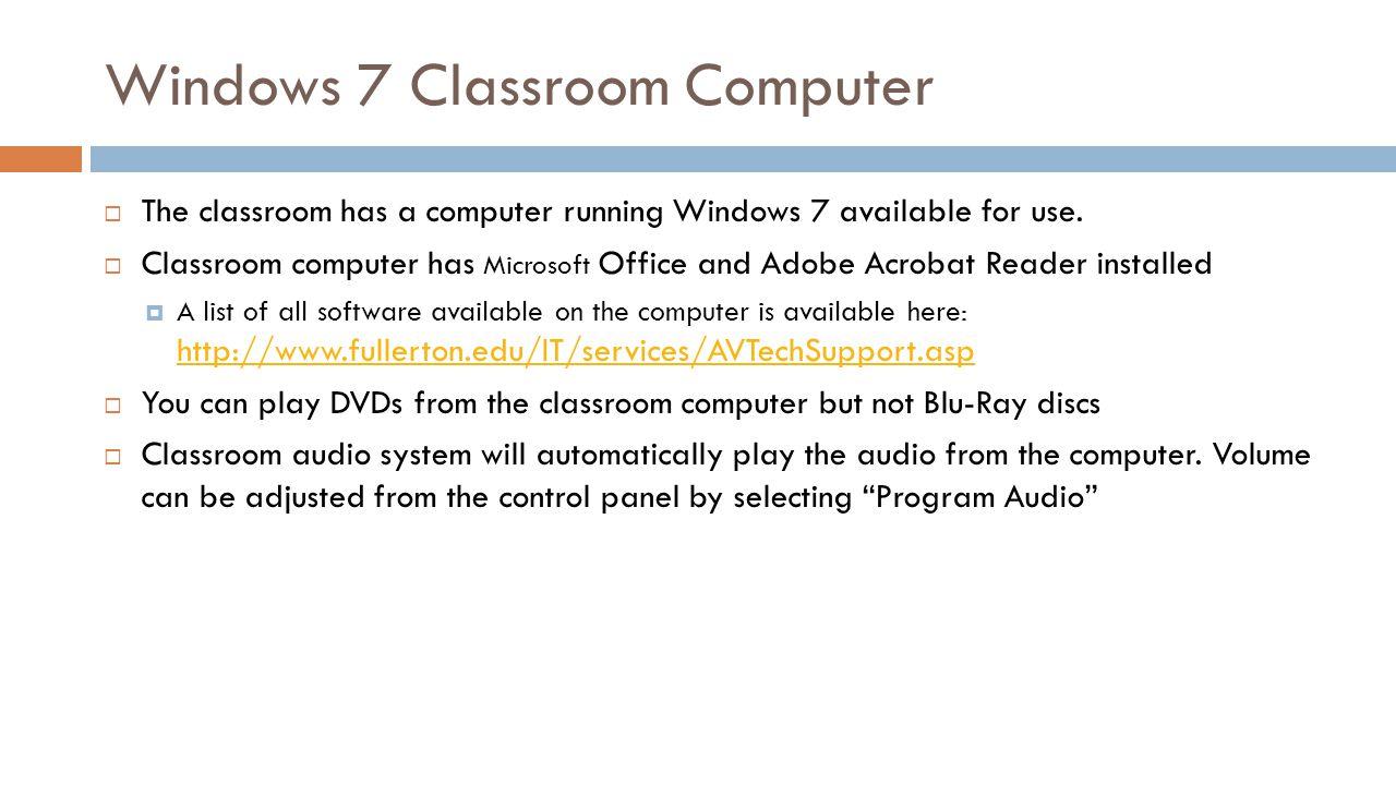 Windows 7 Classroom Computer