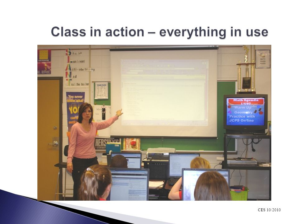 Class in action – everything in use