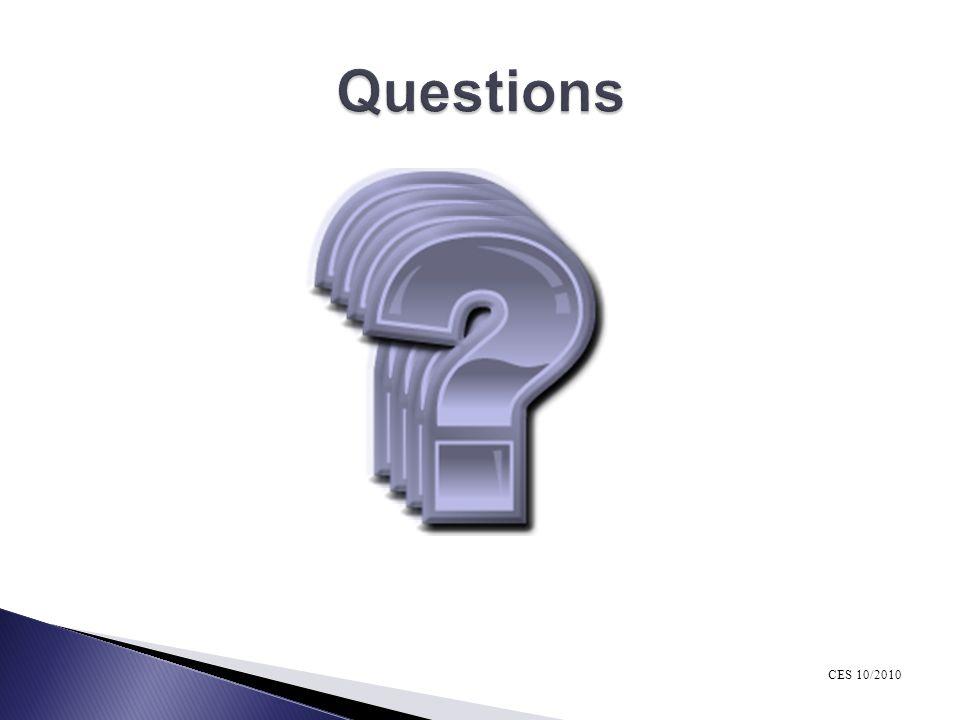 Questions CES 10/2010