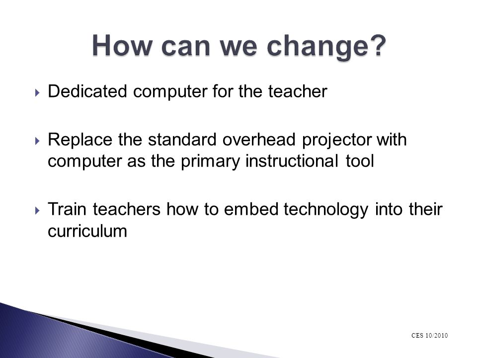 How can we change Dedicated computer for the teacher