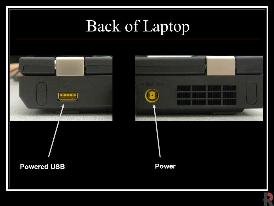 Back of Laptop Powered USB Power