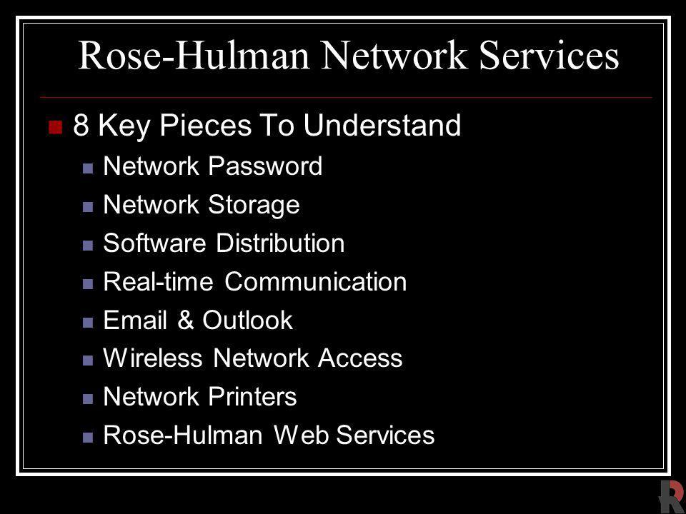 Rose-Hulman Network Services