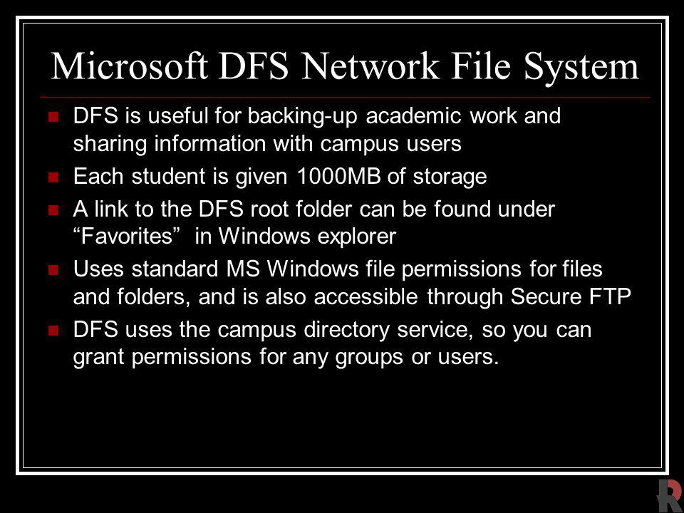 Microsoft DFS Network File System