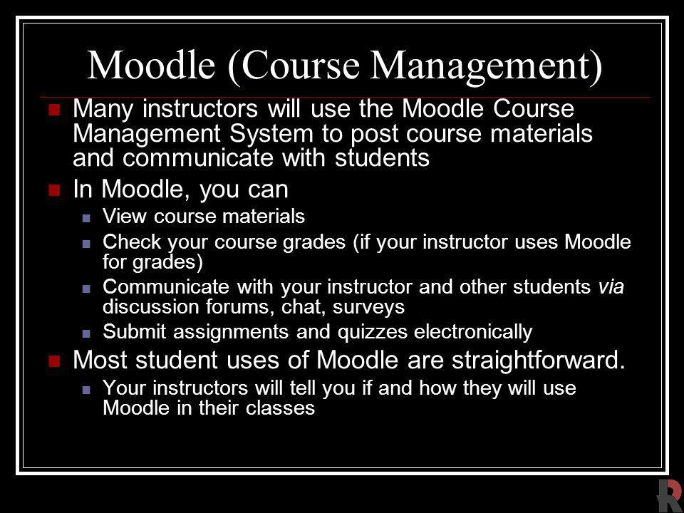Moodle (Course Management)