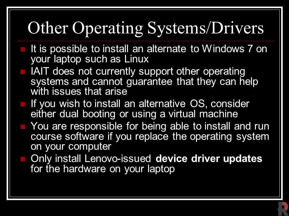 Other Operating Systems/Drivers
