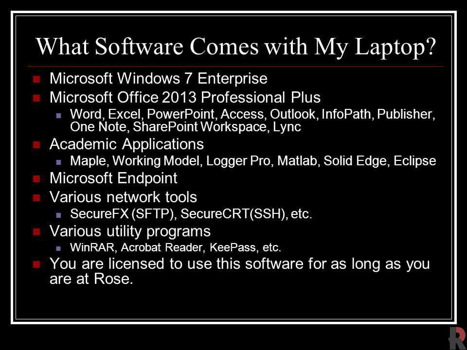 What Software Comes with My Laptop