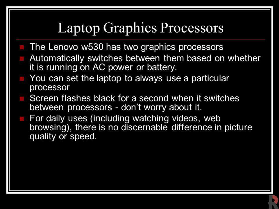 Laptop Graphics Processors