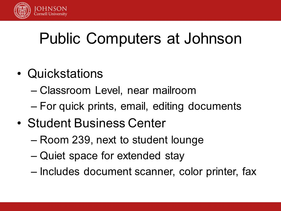 Public Computers at Johnson