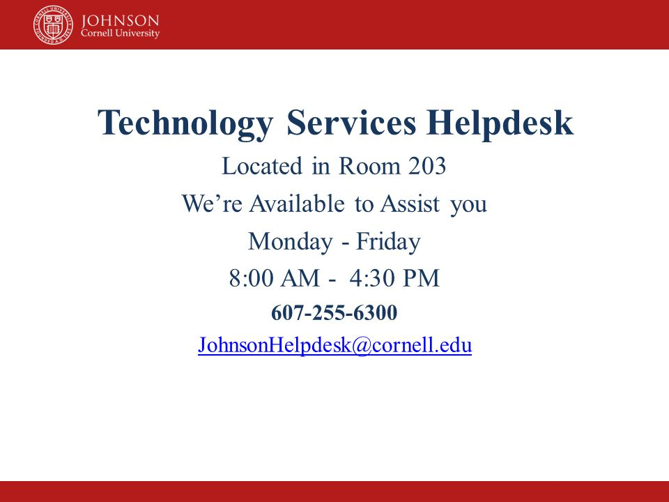 Technology Services Helpdesk