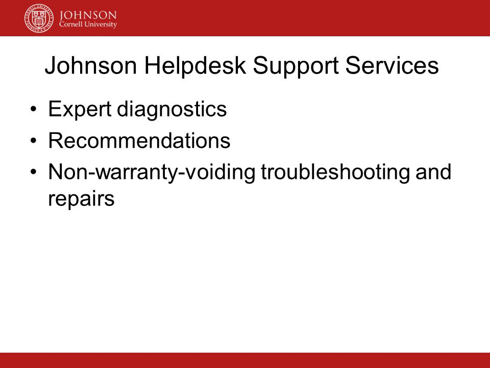 Johnson Helpdesk Support Services
