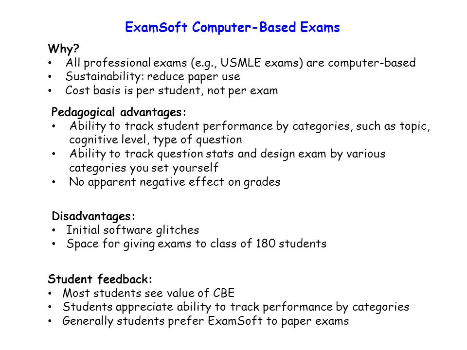 ExamSoft Computer-Based Exams