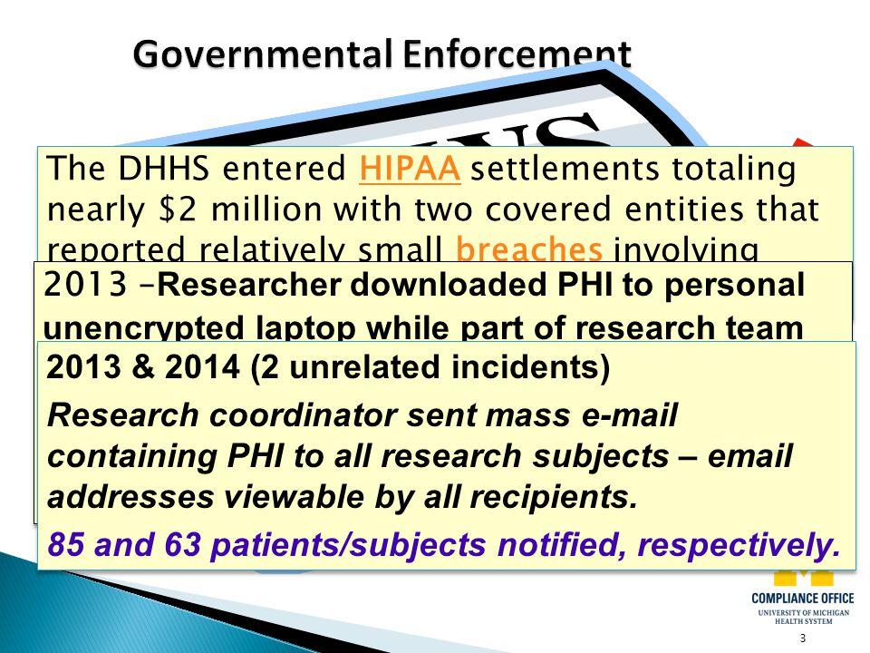Governmental Enforcement