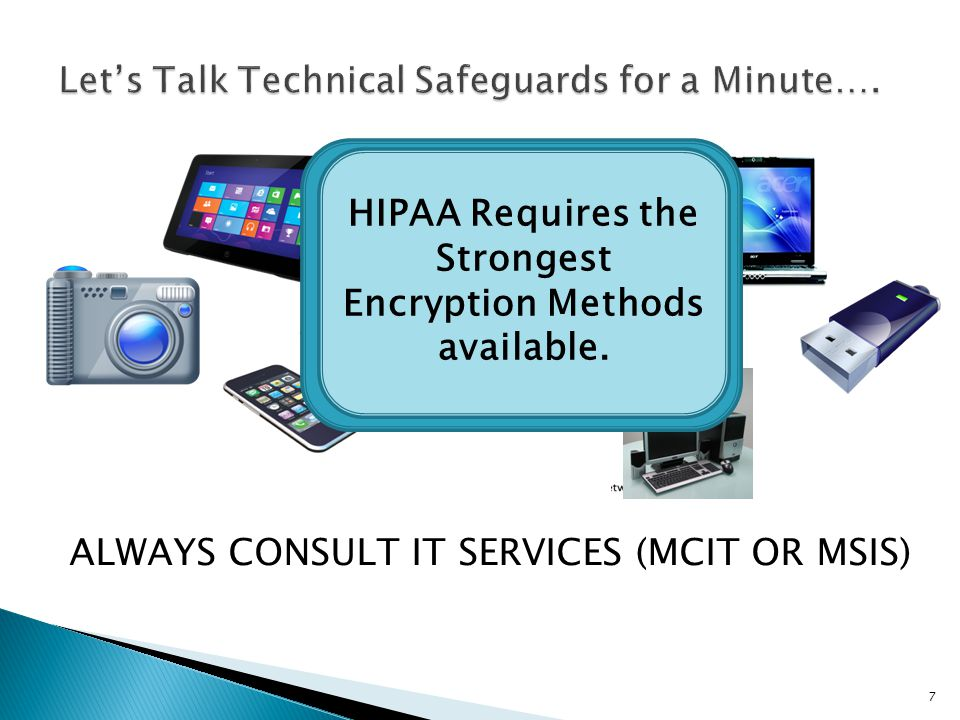 Let's Talk Technical Safeguards for a Minute….