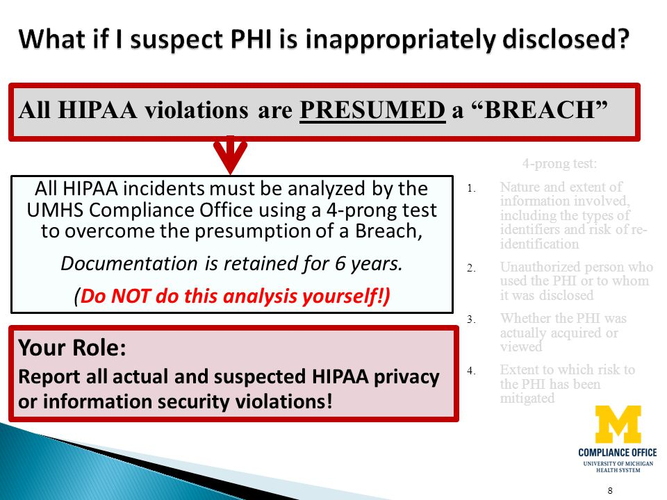 What if I suspect PHI is inappropriately disclosed