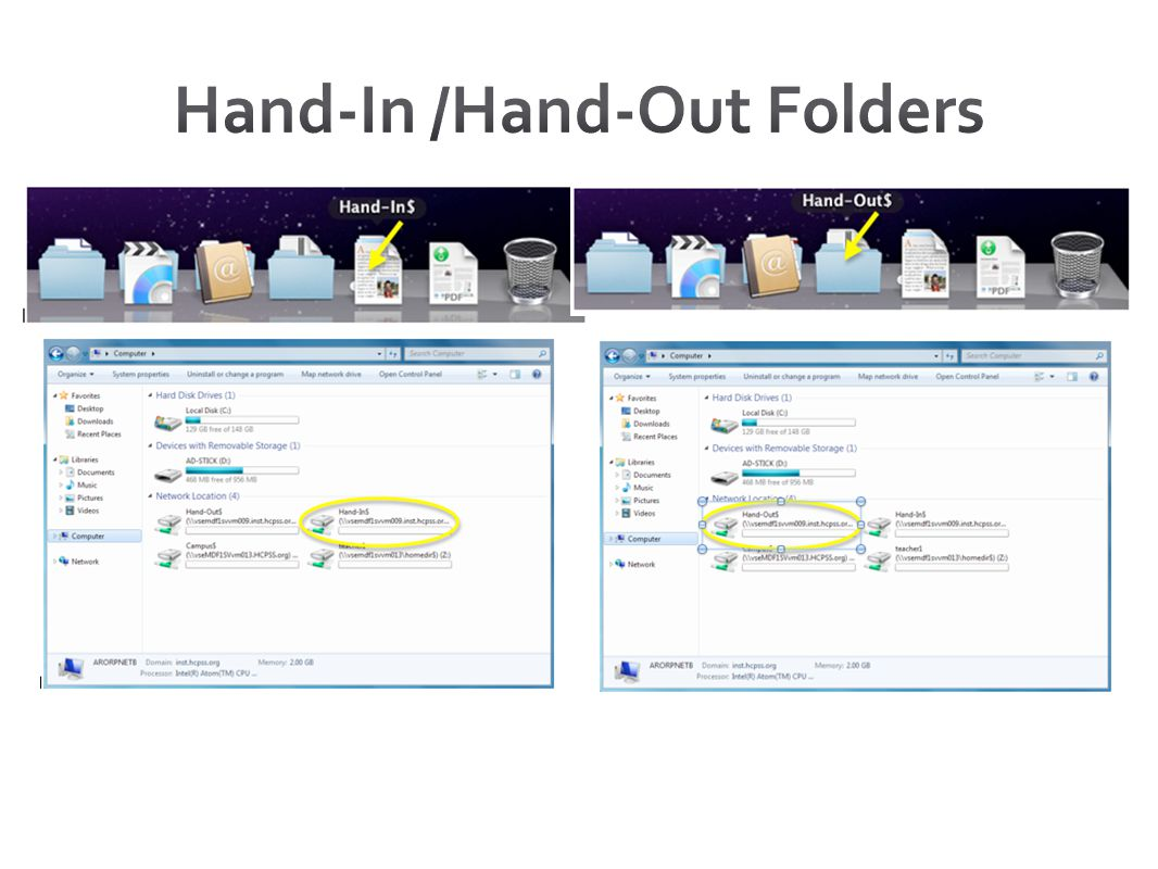 Hand-In /Hand-Out Folders