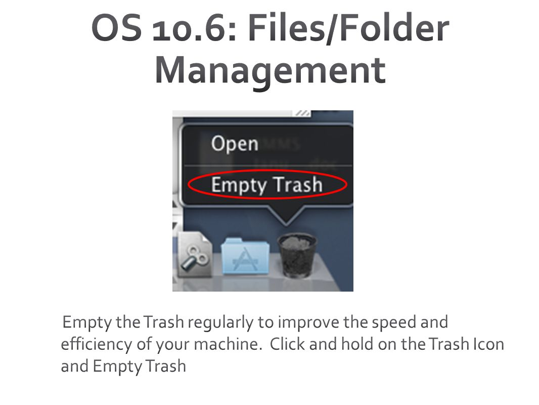 OS 10.6: Files/Folder Management