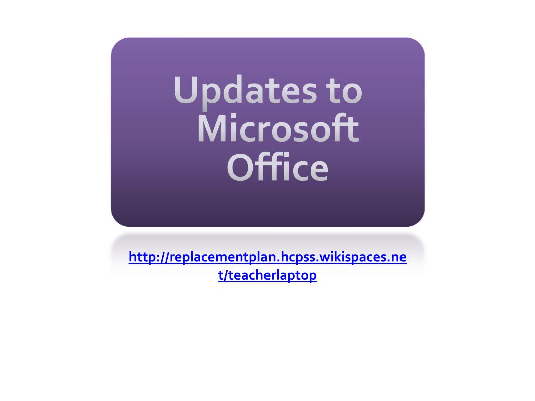 Updates to Microsoft Office