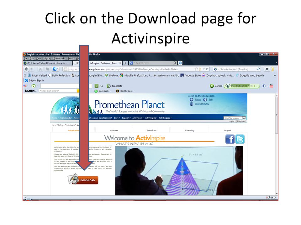 Click on the Download page for Activinspire